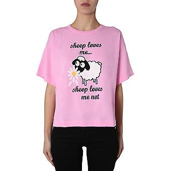 Boutique Moschino 090908003222 Women's Pink Cotton T-shirt