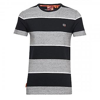 Superdry Collective Stripe Camiseta Gris Grit 9SS