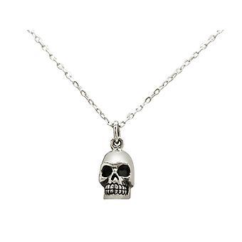 GEMSHINE necklace Gothic skull skull 925 silver, gold plated or rose