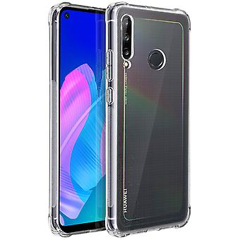 Protective cover Huawei P40 Lite E Silicone   Corners Bumper Resistant - Clear