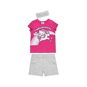 Alouette Girls' Hello Kitty Shirt Set With Shorts And Ribbon
