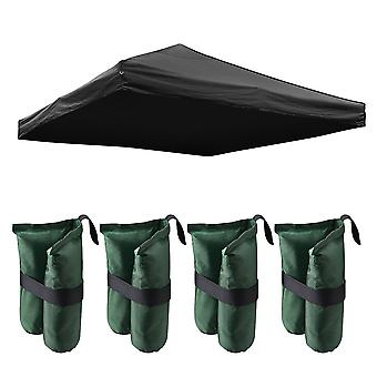 Instahibit 9.6x9.6 Ft Outdoor Event EZ Pop Up Canopy Tent Top Replacement Camping Cover ONLY with 4 Pack Weight Sand Bag