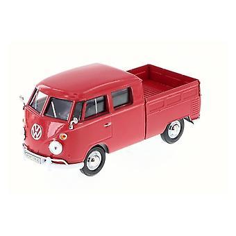 MotorMax Motormax Volkswagen VW Type 2 (T1) Double Cab Red PickUp 1:24