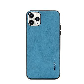 For iPhone 11 Pro Max Case Fabric Texture Soft Protective Fashionable Cover Blue