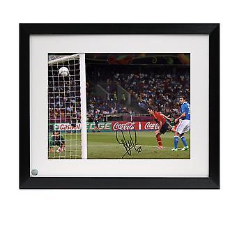 David Silva Signed Spain Photo: Euro 2012. Framed