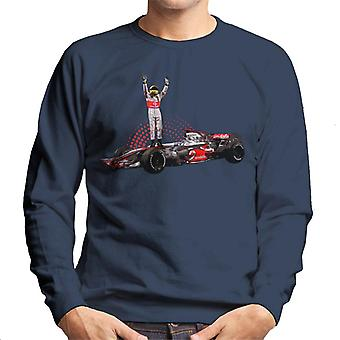 Motorsport Images Lewis Hamilton 2014 Wembley Men's Sweatshirt