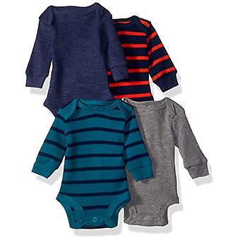 Simple Joys by Carter's Boys' 4-Pack Soft Thermal Long Sleeve Bodysuits, Grey...