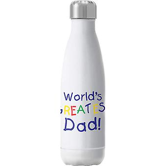 Worlds Greatest Dad Insulated Stainless Steel Water Bottle