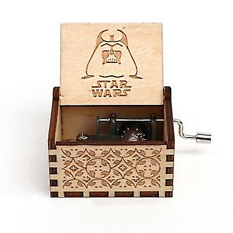 Star Wars Collectibles - Antique Sculpté Main Cranked Wooden 18 Tones Boîte à musique