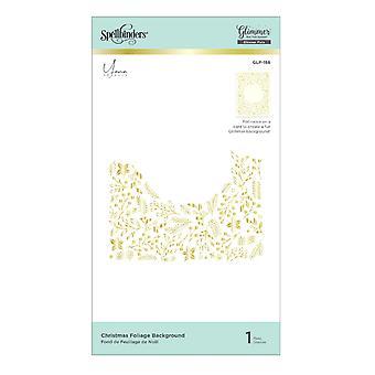 Placa de papel caliente del fondo del follaje de Navidad (GLP-186)