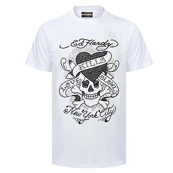 Ed Hardy   Skull Love Caviar Half Sleeve T-shirt