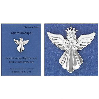 Platinum Plated Guardian Angel Pin Badge - Light Our Way - Cracker Filler Gift