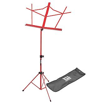 SM7122RB, Compact Sheet Music Stand with Bag, Red