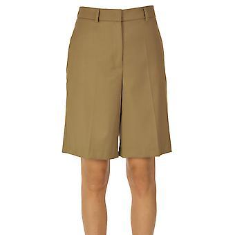 I.c.f. Ezgl456022 Women's Beige Polyester Shorts