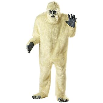 Abominable Snowman Yeti Big Foot Beast Monster Mens Costume One Size