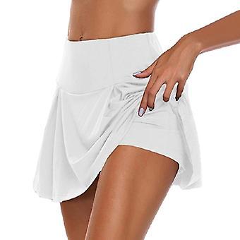 Sport skorts kort kjol med hög midja med leggings för badmintonvolleyboll löpning