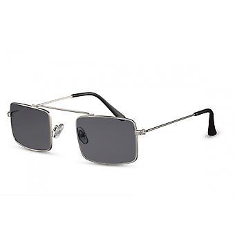 نظارات شمسية رجال كات. 3 مستطيلة سوداء/فضة (CWI1854)