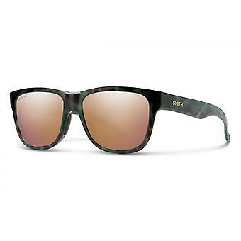 ZonnebrilLen Unisex Lowdown Slim 2 groen havanna/roze goud