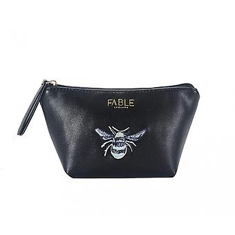 Fable Womens/Ladies Vintage Bee Embroidered Makeup Bag