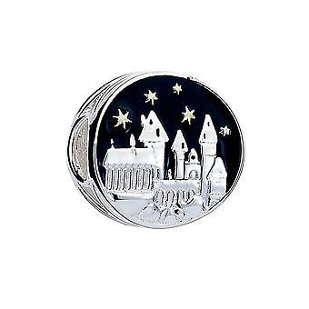 Harry Potter sterling hopea tylypahkan linna spacer helmi