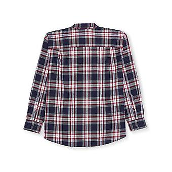 Essentials Men's Big & Tall Long-Sleeve Plaid Flannel Shirt, Red/White...