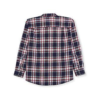 Essentials Men's Big & Tall Long-Sleeve Plaid Flannel Shirt, Vermelho/Branco...