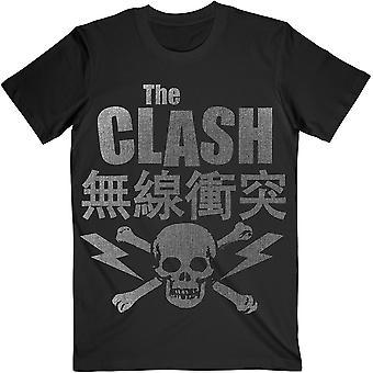 Black The Clash Skull & Crossbones Officiel Tee T-Shirt Unisex