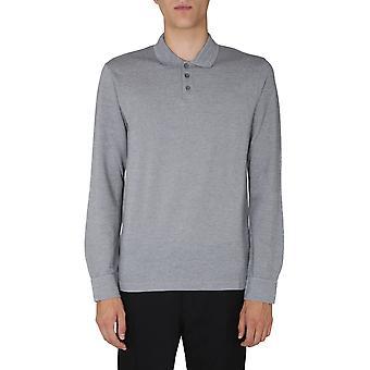 Z Zegna Vv376zz617k93 Men'camisa polo de algodão cinza