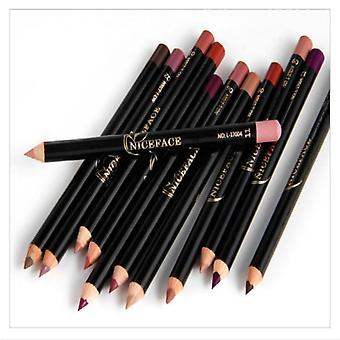 Lip Pencils Matte Lipliner Silk Nude Lipstick Pen Long Lasting Pigments Lip Makeup