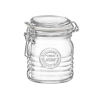 Bormioli Rocco Officina 1825 Glass Storage Jar with Airtight Clip Lid - 350ml