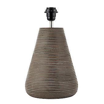 Endon Mahalla - 1 Licht Tisch Licht Antik grau waschen Holz (nur Basis), E27