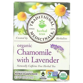 Traditional Medicinals Teas Organic Chamomile with Lavender Tea, W/lavender 16 Bags