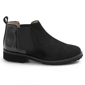 Női boot Sangiorgio fekete velúr és festék
