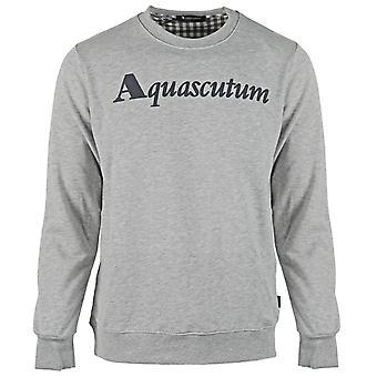 Aquascutum Box Logo grau Sweatshirt