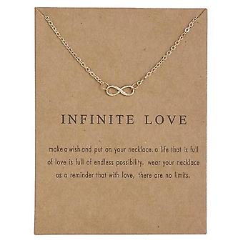 Amour infini - collier 18K or plaqué amateur de cadeaux