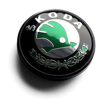 Negro / Verde / Cromo Skoda Rueda de coche centro Tapas Hub Cubierta 65mm 1 PCS Para Felicia Octavia Fabia Roomster Superb Yeti Rapid Citigo