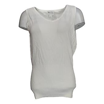 Linea by Louis Dell'Olio Women's Top Whisper Knit V-Neck White A307363