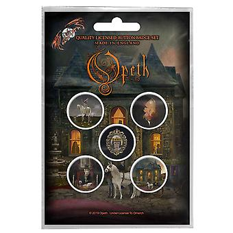 Opeth Badge Pack In Caude Venenum Band Logo new Official 5 x 25mm set