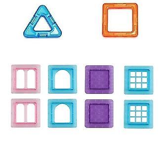 Magnetische blokken, bouwen enkele bakstenen speelgoed