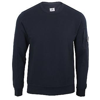 C.p. company men's navy light fleece crew neck sweatshirt