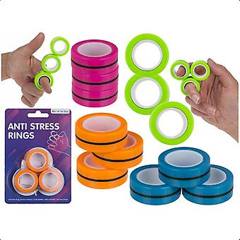9-Pack Magnetic Stress Relax Rings Anneaux de stress