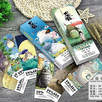 32pcs Cartoon Totoro Bookmark Set, Anime Paper Page Holder Memo Card Stationery