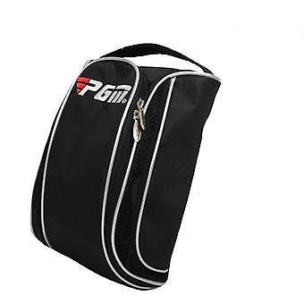 Golf Shoes Bag, Breathable Nylon, Fabric Waterproof, Shoe Bag  (black)