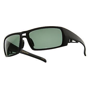 Mid Size Rectangular Polarized Sports Wrap Sunglasses