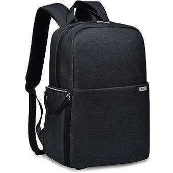 CADeN L4 Dwuwarstwowy plecak typu Casual Business Computer Backpack USB Wielofunkcyjna torba na aparat cyfrowy (czarny)