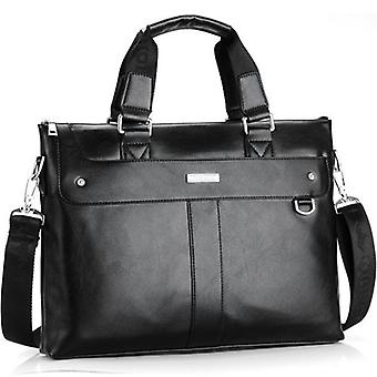 Men Leather Business Shoulder Travel Bag