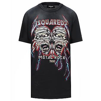 Dsquared2 Cool Fit Zombie Twins camiseta negra