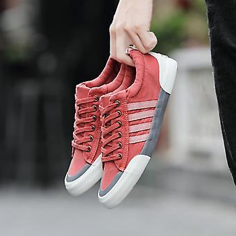 Men Fashion Vulcanized Lace-up Casual Shoes Sneakers