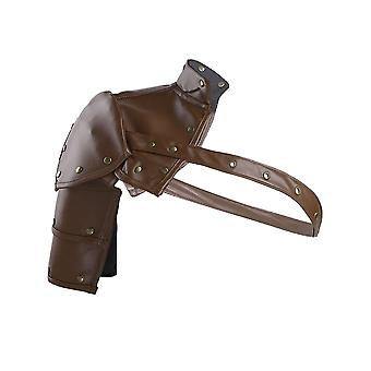 Unisex Gothic Steampunk Pu Single Shoulder Armors Arm Strap
