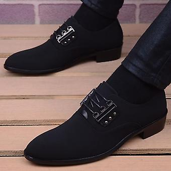 Men's Fashion Leather Moccasin Pointed Toe Classic Wedding Shoes